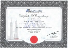 Maslow Sales Training Cert-01