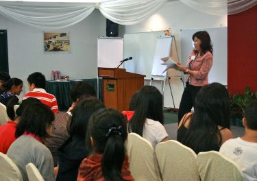 Laychi speaking at the Youth Leadership Program