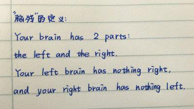 You Left Brain Has Nothing Right, And Your Right Brain....
